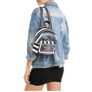 Kendall And Kylie Black/White Clear Mini Backpack